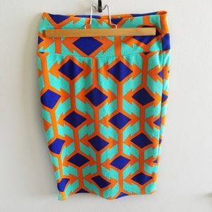 LuLaRoe Small Geometric Print Skirt